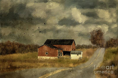 Country Road Digital Art - The Coming On Of Winter by Lois Bryan