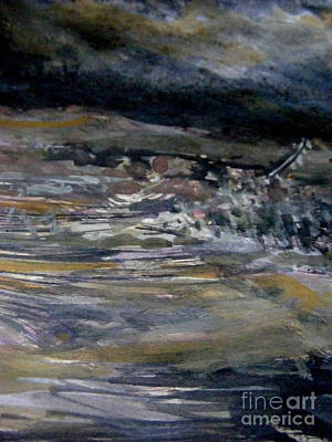 Aerial Perspective Painting - The Coming Storm by Nancy Kane Chapman