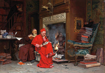 Moral Painting - The Committee On Moral Books by Jehan Georges Vibert