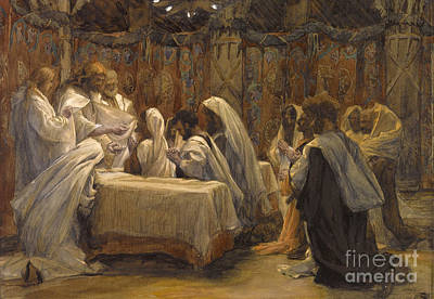 Saviour Painting - The Communion Of The Apostles by Tissot