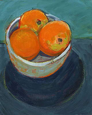 Orange Painting - The Community Bowl Project by Jennifer Lommers