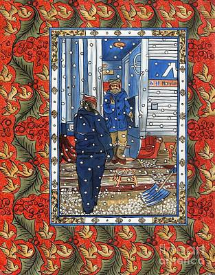 Painting - The Commute Winter by Susanna Fields-Kuehl