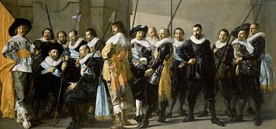 Painting - The Company Of Captain Reinier Reael And Lieutenant Cornelis Michielsz by Frans Hals