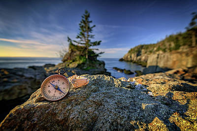 Quoddy Photograph - The Compass by Rick Berk