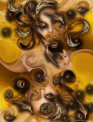 Digital Art - The Complex Angel by Carmen Fine Art