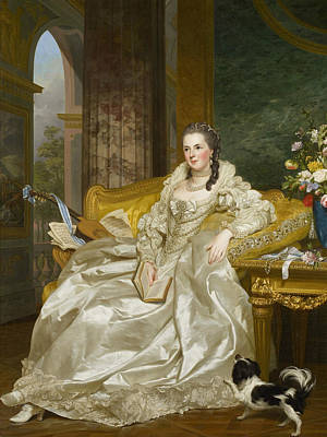 18th Century Painting - The Comtesse D'egmont Pignatelli In Spanish Costume by Alexander Roslin