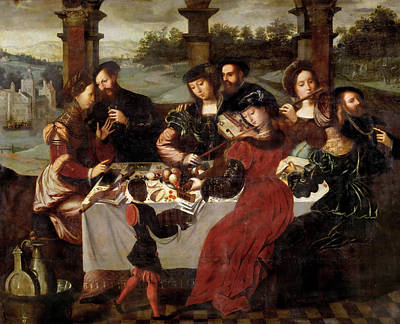 The Concert After The Meal Art Print by Ambrosius Benson