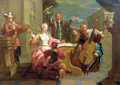 18th Century Photograph - The Concert  by Etienne Jeaurat