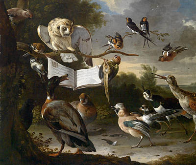 Painting - The Concert Of Birds by Melchior d'Hondecoeter