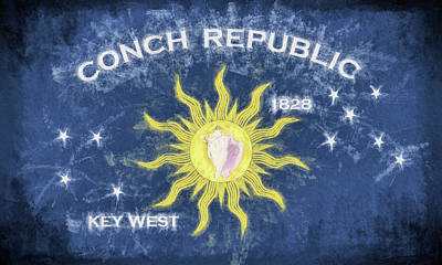 Digital Art - The Conch Republic Of Key West by JC Findley