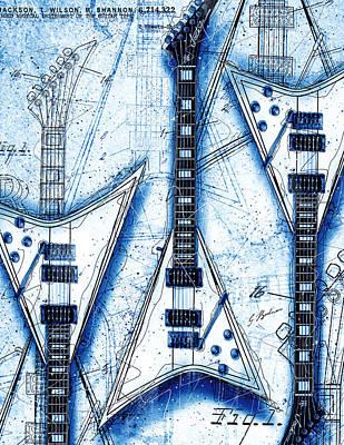 Randy Rhoads Digital Art - The Concorde Blueprint by Gary Bodnar