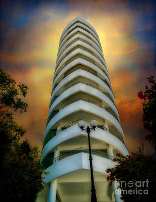Street Lamps Digital Art - The Condominium by Adrian Evans