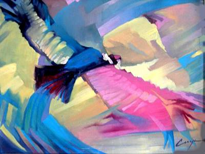Painting - The Condor Lives by Victor Cuya