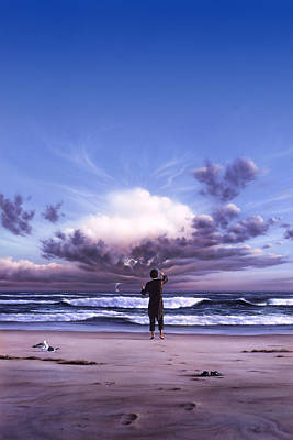 Seagulls Painting - The Conductor by Jerry LoFaro