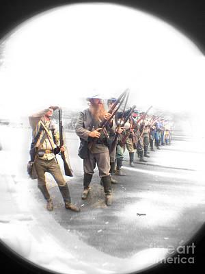 Digital Art - The Confederates  by Steven Digman