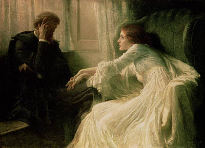 Flirt Painting - The Confession by Sir Frank Dicksee