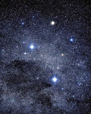 The Constellation Of The Southern Cross Art Print by Luke Dodd