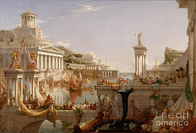 Painting - The Consummation The Course Of The Empire  by Cole Thomas