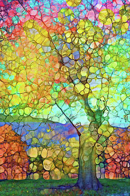 Digital Art - The Contagious Laughter Of Trees by Tara Turner