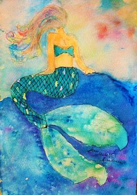 Painting - The Contemplation Of A Mermaid by Ann Michelle Swadener