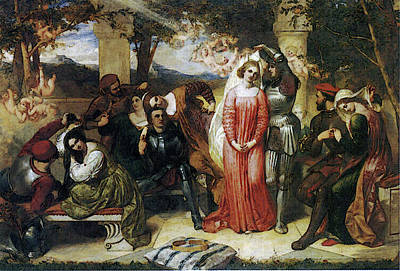 The Contest Of Beauty For The Girle Of Florimel Britomartis Unveiling Amoret Art Print by Frederick Richard Pickersgill