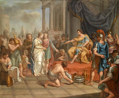 Painting - The Continence Of Scipio by Georg Mathias Fuchs