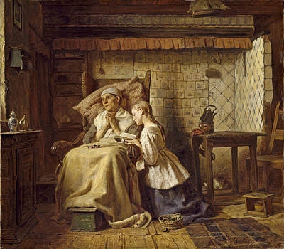 Convalescent Painting - The Convalescent by Ferdinand Fagerlin