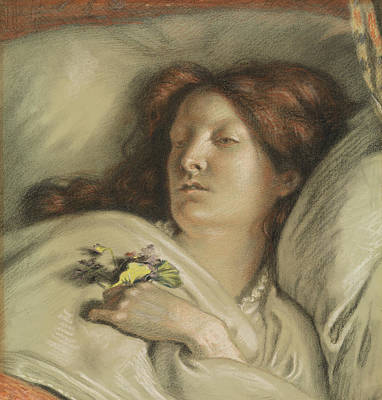 Pastel - The Convalescent by Ford Madox Brown