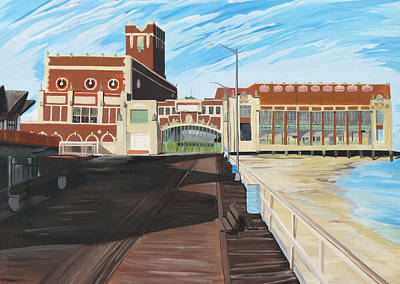 Asbury Park Painting - The Convention Hall  Asbury Park  by Patricia Arroyo