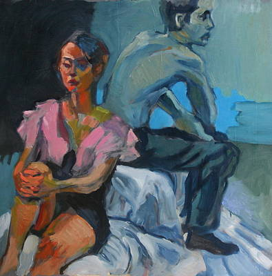 The Conversation Art Print by Piotr Antonow