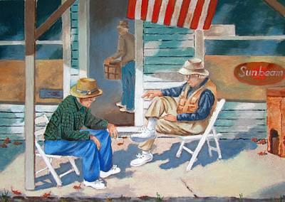 Painting - The Conversation by Tony Caviston