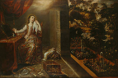 Painting - The Conversion Of Saint Mary Magdalene by Juan Correa
