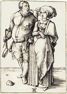 Drawing - The Cook And His Wife by Albrecht Durer