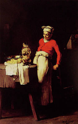 The Cook And The Pug Art Print