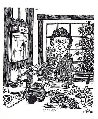 Julia Child Painting - The Cook by Barry Nelles Art