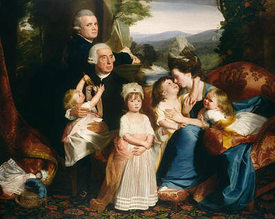 The Copley Family Art Print by John Singleton Copley