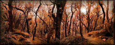 Trees Photograph - The Copper Forest by Daniel  Arrhakis
