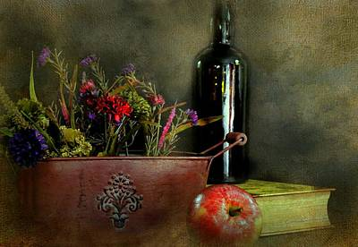 Table Wine Photograph - The Copper Planter by Diana Angstadt