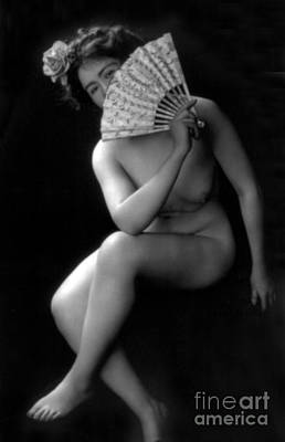 Suggestive Photograph - The Coquette, Nude Model, 1900s by Science Source
