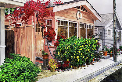 Painting - The Coral Hut - Catalina Island by David Lloyd Glover