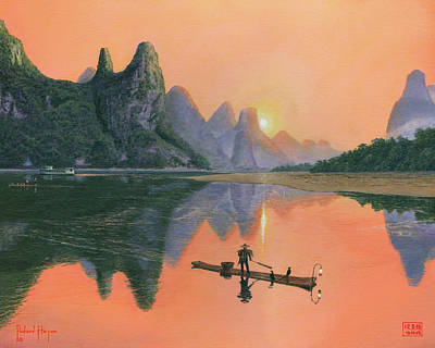 The Cormorant Fisherman Li River Guilin China  Original by Richard Harpum