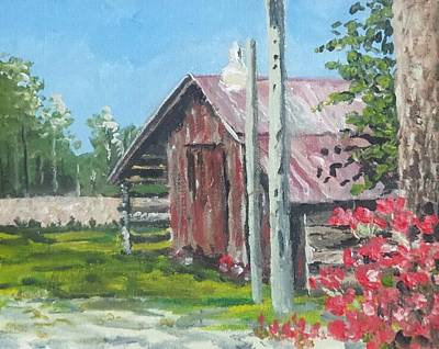 Painting - The Corn Crib by Jim Phillips
