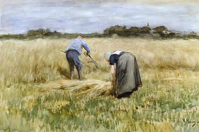 Corn Painting - The Corn Harvest by Anton Mauve