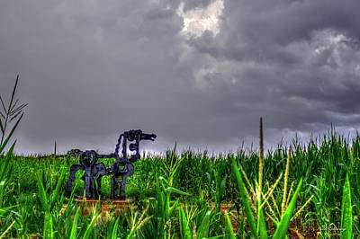 Photograph - The Corn Is Up The Iron Horse Collection Art by Reid Callaway