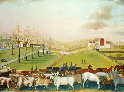 American Painters Painting - The Cornell Farm by Edward Hicks