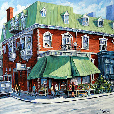 Walter Pranke Painting - The Corner Market by Richard T Pranke