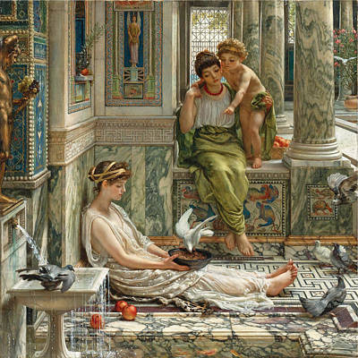 Painting - The Corner Of The Villa by Edward John Poynter