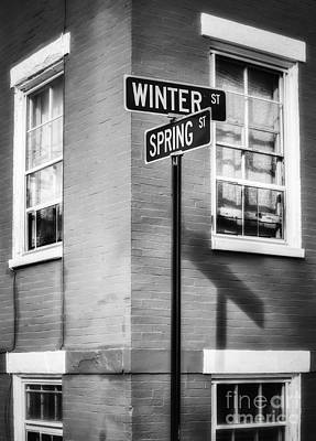 The Corner Of Winter And Spring Bw Art Print by Jerry Fornarotto
