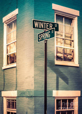 The Corner Of Winter And Spring Art Print by Jerry Fornarotto