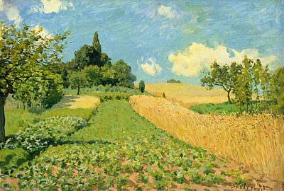 Corn Painting - The Cornfield by Alfred Sisley